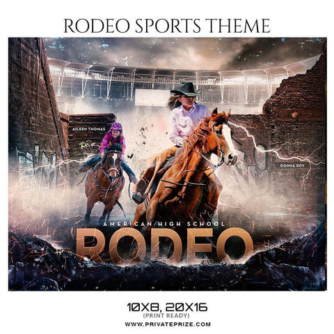 Rodeo - Themed Sports Photography Template