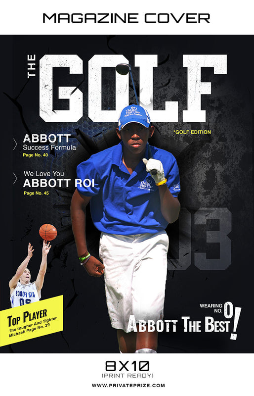 Golf - Sports Photography Magazine Cover - Photography Photoshop Templates