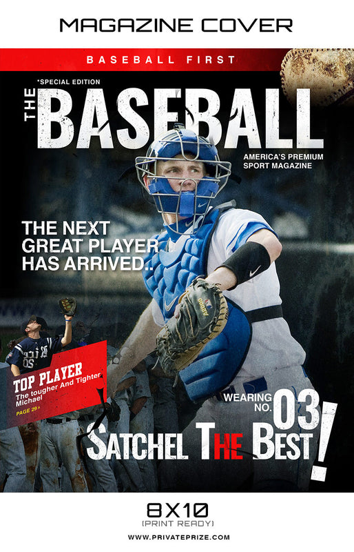Baseball - Sports Photography Magazine Cover - Photography Photoshop Templates