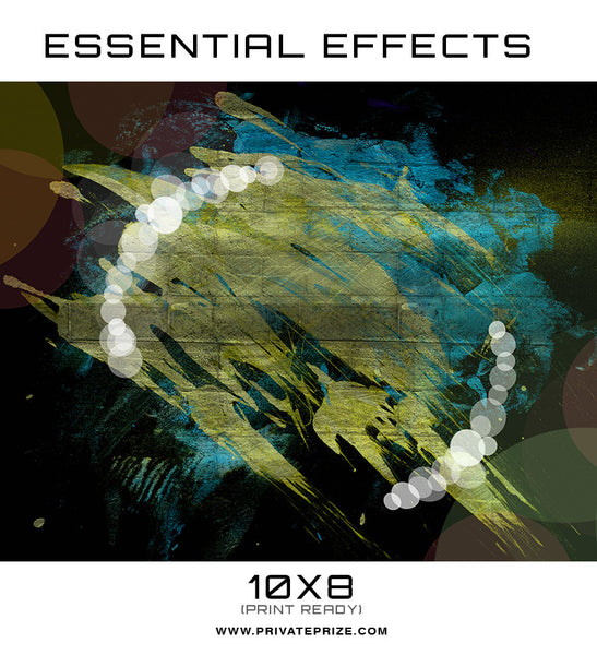 Essential Effects - Cyan - Photography Photoshop Template