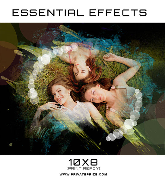 Essential Effects - Cyan - Photography Photoshop Templates