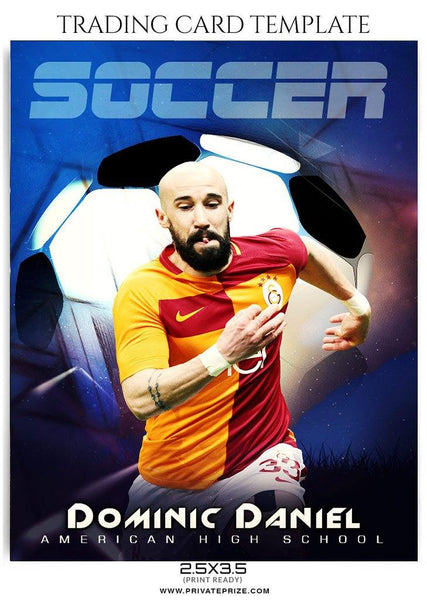 Soccer  - Trading Card Sports Photoshop Template