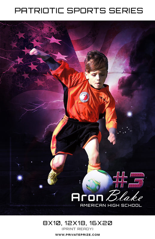 Soccer - Sports Patriotic Series - Photography Photoshop Template