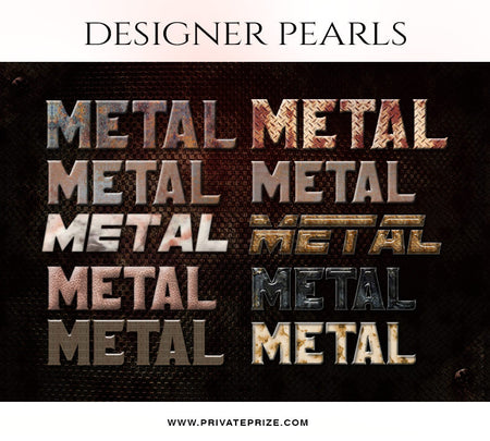 Metal Text Style Set -Designer Pearls set - Photography Photoshop Template