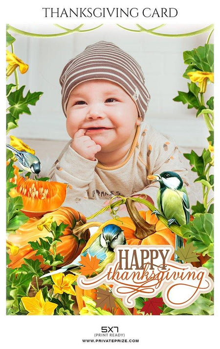 Happy Thanksgiving - Thanksgiving cards - Photography Photoshop Template