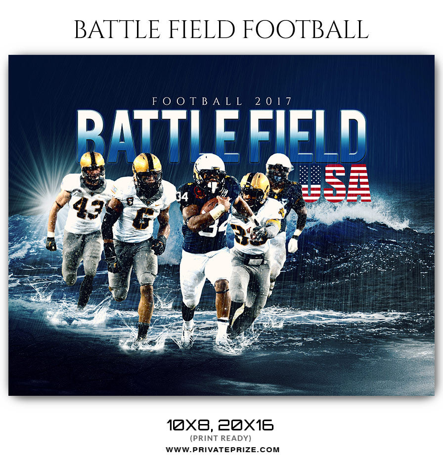Battle Field Themed Sports Template