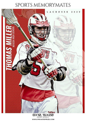 Thomas Miller - Lacrosse Sports Memory Mates Photography Template