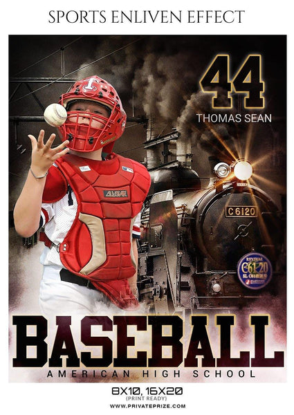 Thomas Sean - Baseball Sports  Enliven Effects Photography Template
