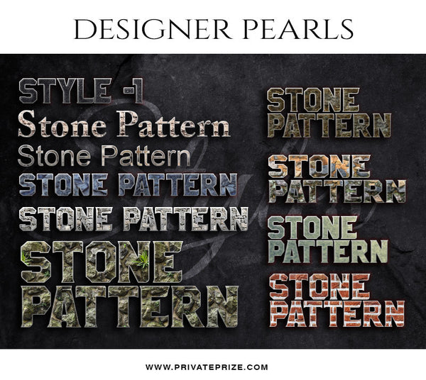 Rock Text Style Set -Designer Pearls set - Photography Photoshop Template