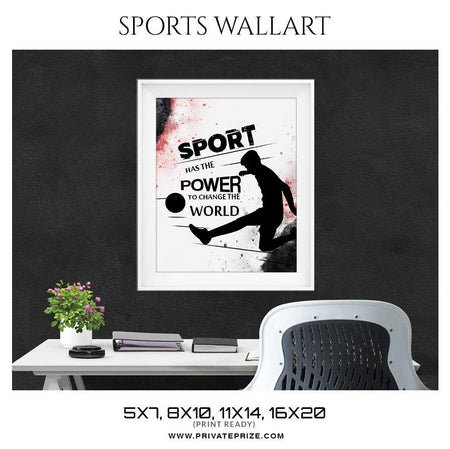 Power of Sports - Sports Wall Art, Modern Wall Decor, Printable Wall Art, Digital Download Art, Motivational Quote, Instant Download - Photography Photoshop Template