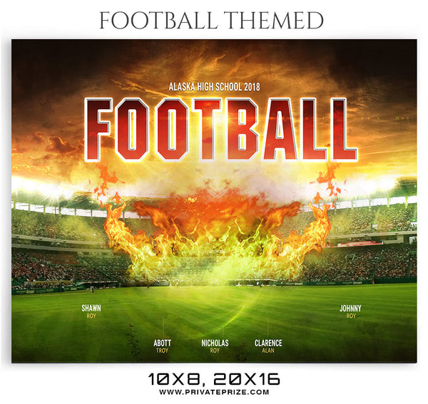 Alaska Team Football Themed Sports Photography Template
