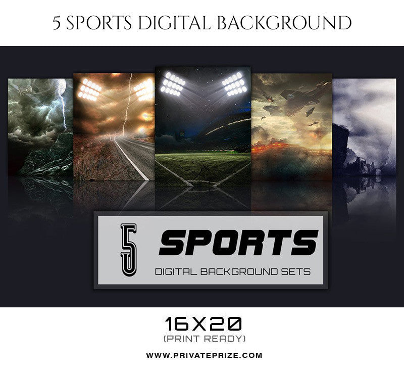 Dark-5 Sports Digital Background Set