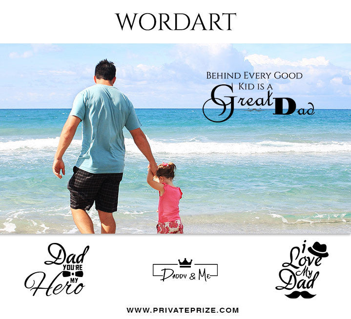 Fathers Day Wordart Set 1 - Designer Pearls - Photography Photoshop Template