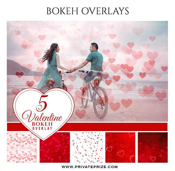 Valentine's - Bokeh Overlay Set - Photography Photoshop Template