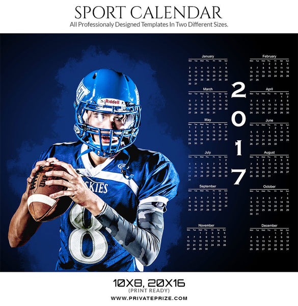 Aspire 2017 Signature Calendar - Photography Photoshop Templates