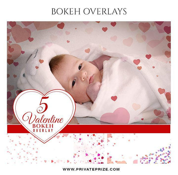 Heart - Designer Pearls Valentines Overlays - Photography Photoshop Template