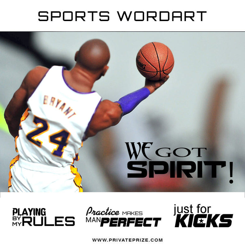 Sports Word Art Overlays - Fearlessness - Photography Photoshop Template