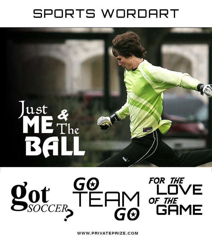 Sports Word Art Overlays - The Game - Photography Photoshop Template