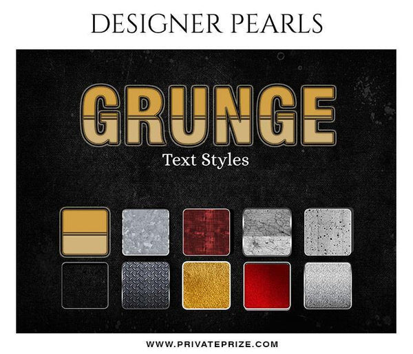 Grunge Text Style - Designer Pearls - Photography Photoshop Template