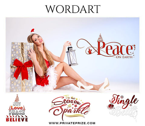 Christmas Wordart - Photography Photoshop Template
