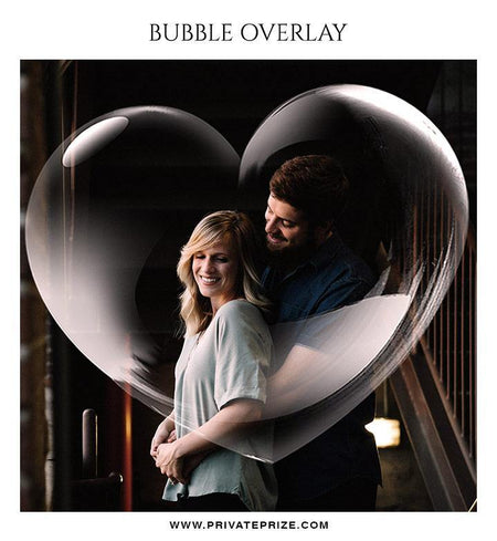 Heart Bubble Effect - Photography templates - Photography Photoshop Template