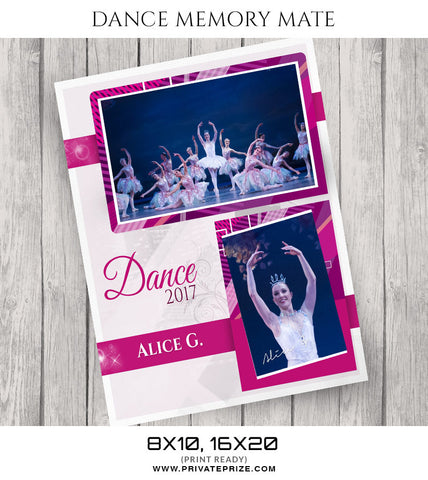 Power of Pink Dance Memory Mate - Photography Photoshop Templates
