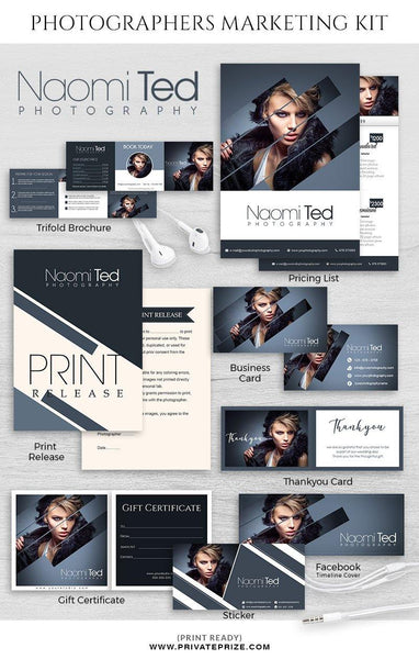 Naomi Ted - Marketing Kit - Photography Photoshop Template