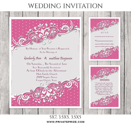 Kimberly&Matthew Wedding Invitation Card - Photography Photoshop Template