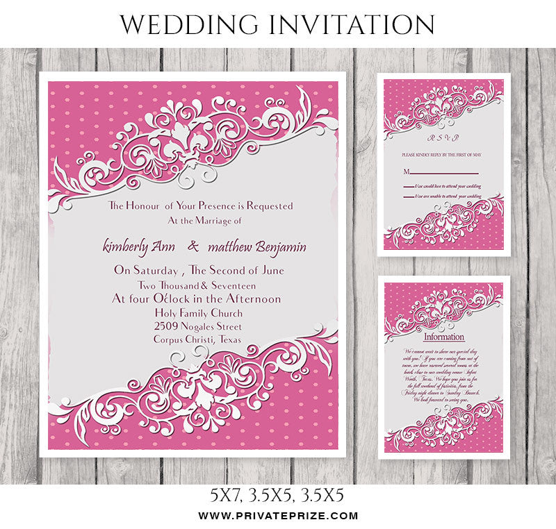Kimberly Matthew Wedding Invitation Card