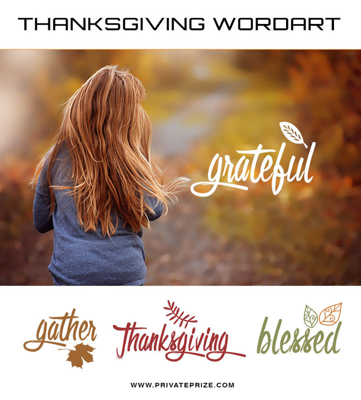 Thanksgiving Word Art Set 1 - Photography Photoshop Templates