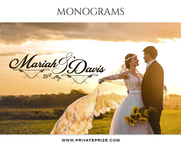 Mariah and Davis - Wedding Monograms - Photography Photoshop Template