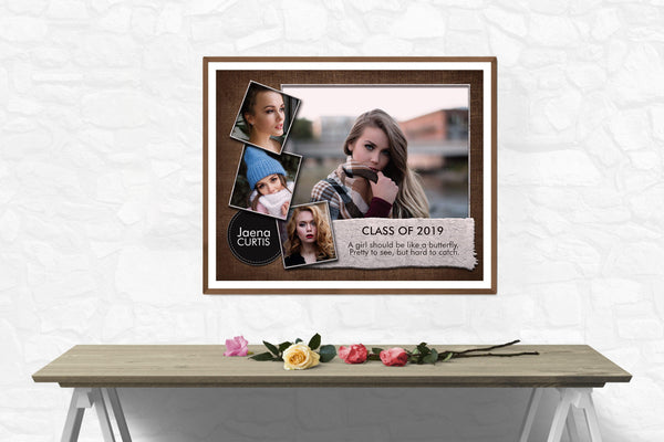 Jaena Curtis - Senior Collage Photography Template - Photography Photoshop Template