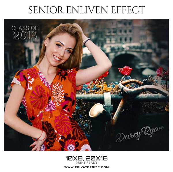 Darcy Ryan Senior Enliven Effect - Photography Photoshop Template