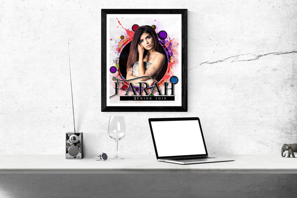 Farah - Senior Enliven Effect Photography Template - Photography Photoshop Template