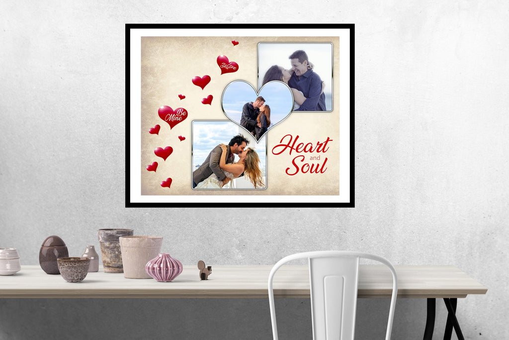 heart and soul valentine s wedding collage templates