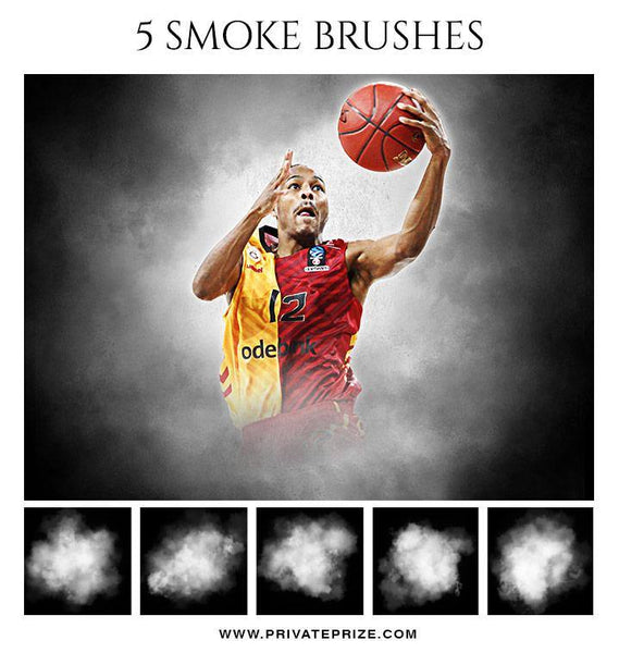 5 Smoke Brushes - Photography Photoshop Template