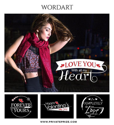 Valentines - Wordart - Photography Photoshop Template