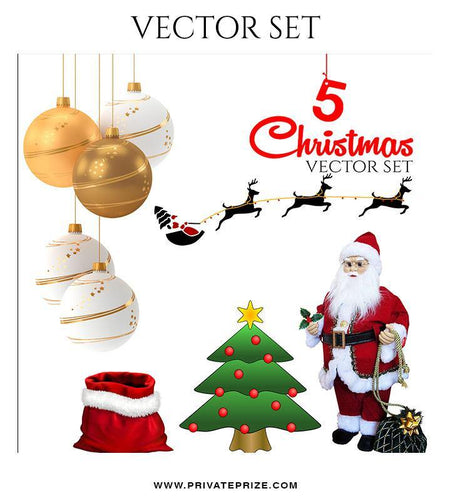 Christmas Vector Graphics Set - PrivatePrize - Photography Templates