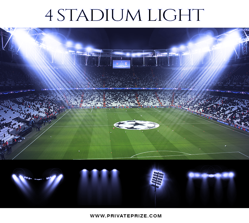 4 Stadium Light Overlays - Designer Pearls - Photography Photoshop Template