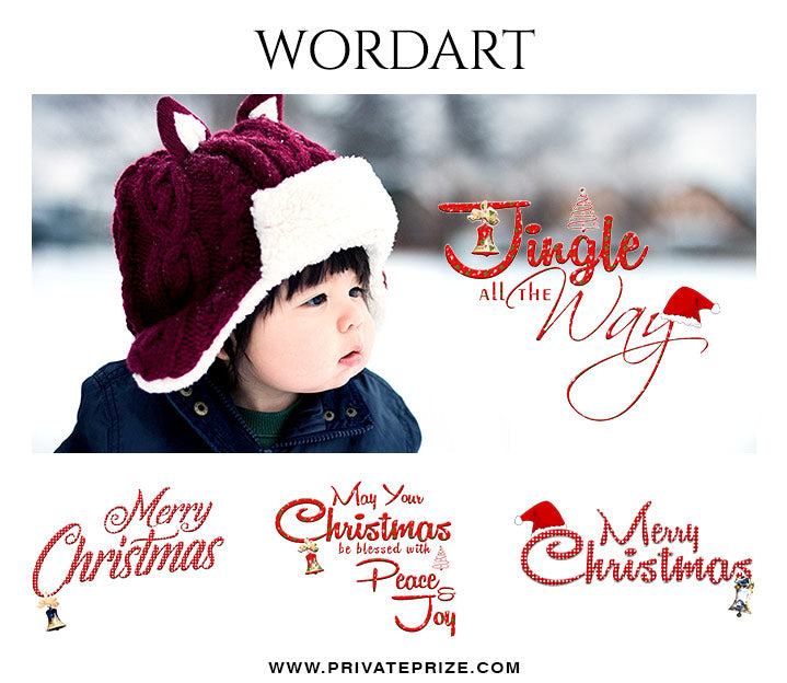 Christmas Wordart Set - Photography Photoshop Template