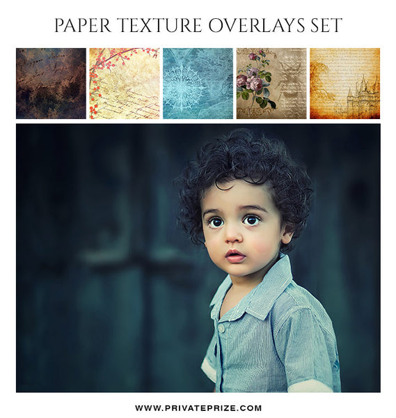 Paper Texture Overlay Set - Photography Photoshop Template