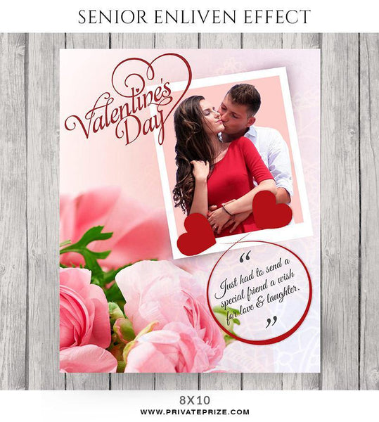 A Valentine's Wish- Senior Enliven Effects - Photography Photoshop Template