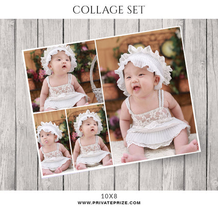 Baby Collage Set - Alena - Photography Photoshop Template