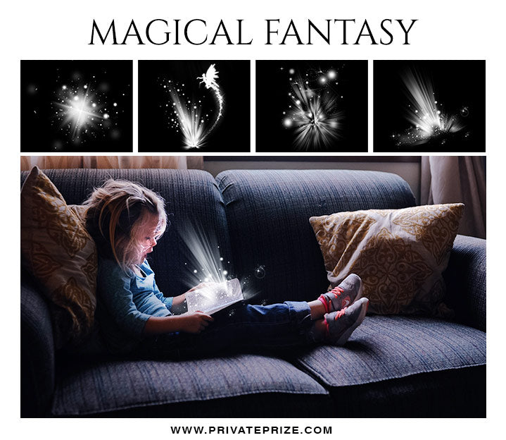 Magical Fantasy -  Overlays - Photography Photoshop Template
