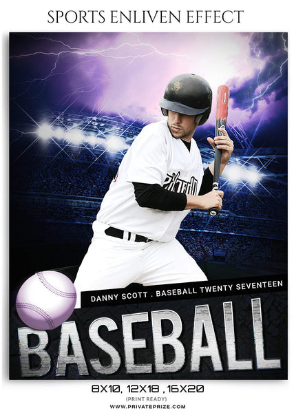 Danny Scott- Sports Photography Template-Enliven Effects - Photography Photoshop Template