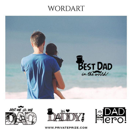 Father's Day Wordart Set - Designer Pearls - Photography Photoshop Template