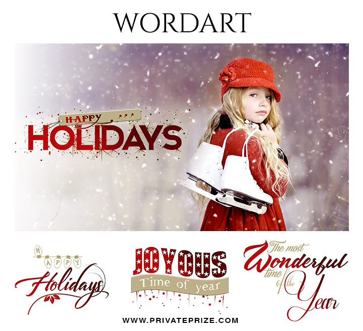 Holidays Wordart Set - Photography Photoshop Template
