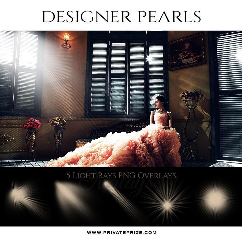 5 Light Overlays - Designer Pearls - Photography Photoshop Template