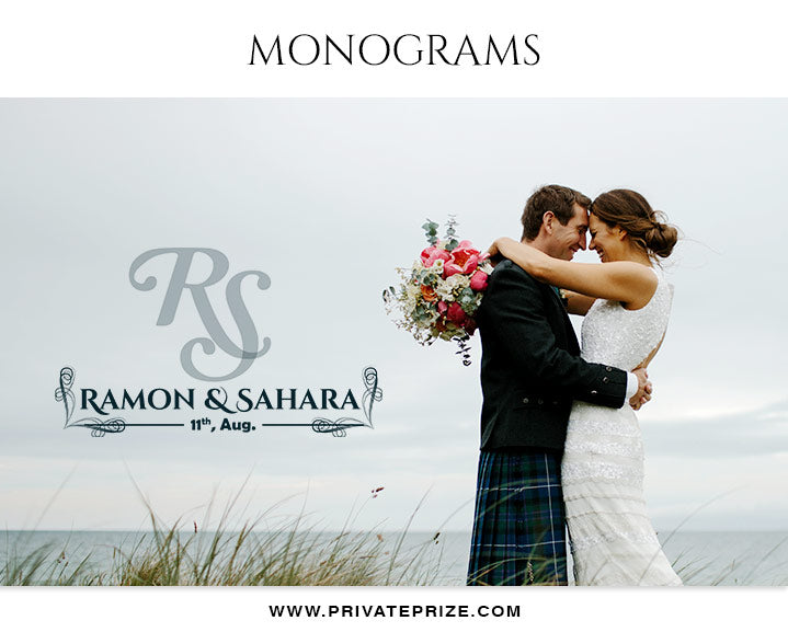Ramon And Sahara  - Wedding Monograms - Photography Photoshop Template