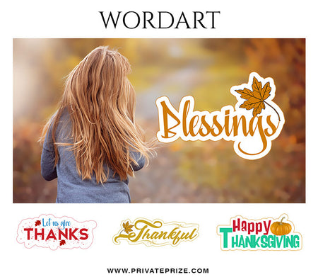 Thanksgiving Word Art - Photography Photoshop Template